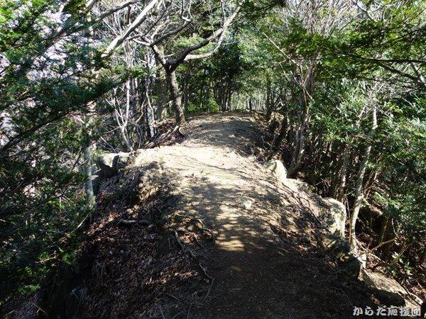 鐘ヶ嶽の尾根道