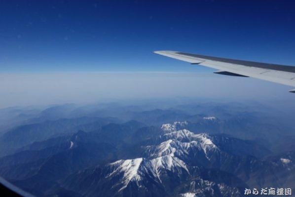 機上からの南アルプス