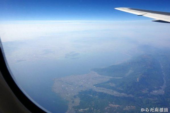 機上からの琵琶湖