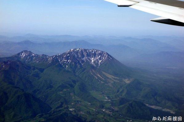 機上からの大山
