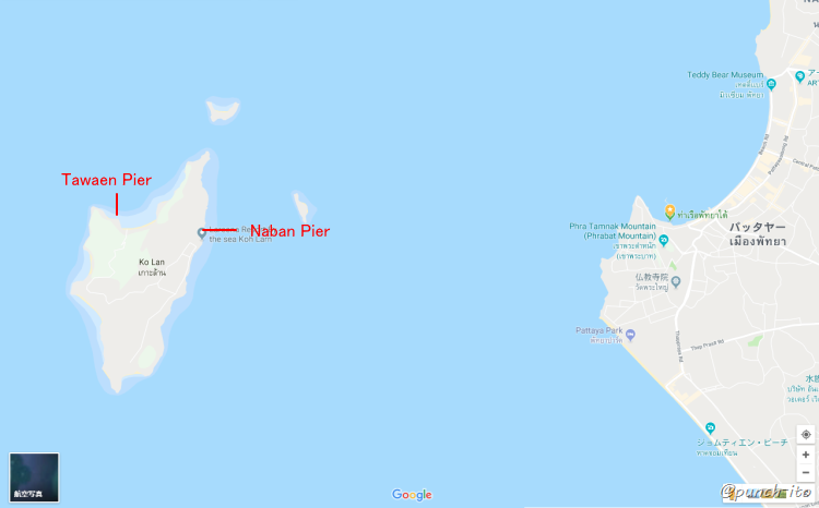 ラン島の桟橋は2つあります