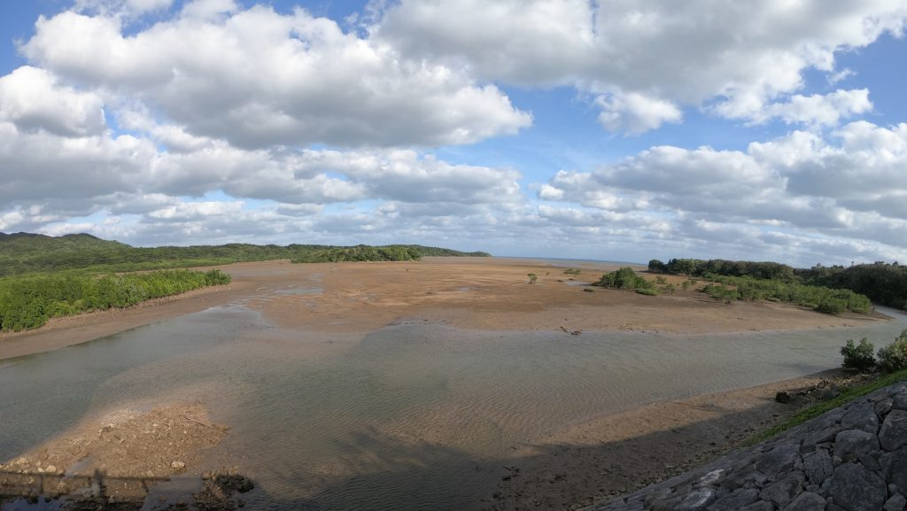 シイラ川河口の広大な干潟