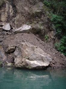 釣りとトリガーポイントと私-岩崩れ